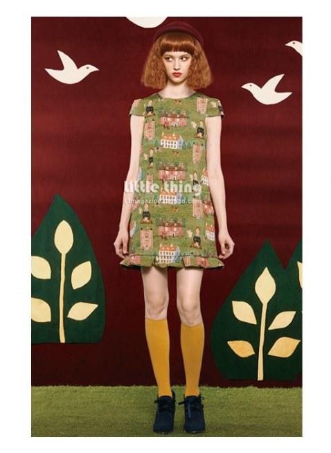 Unlogical Poem-2014FW Artist House Fly sleeve dress