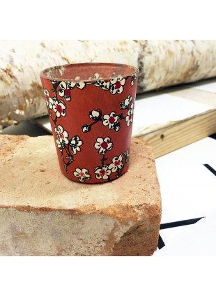 Candle cup (梅×茶色)