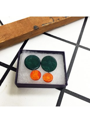 Two-tone Color Pierce (Green × orange)
