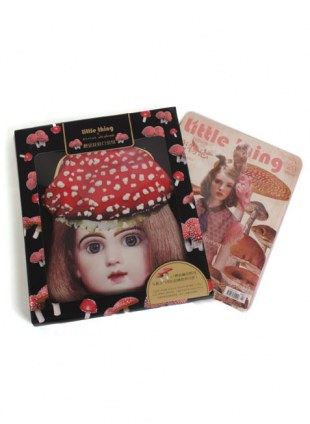 achacyum× little thing special collaboration mushroom Girl pochette ・ Little Thing magazine No29 set