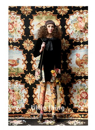 Unlogical Poem / Applique  Print  Tights