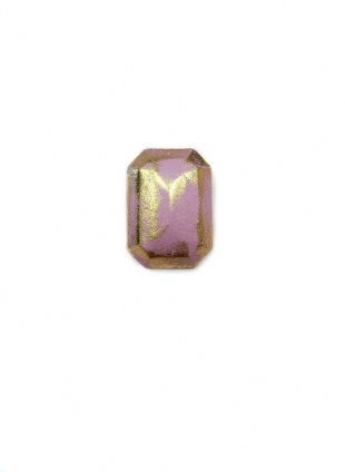 Leather Cover Pierce Gold Purple