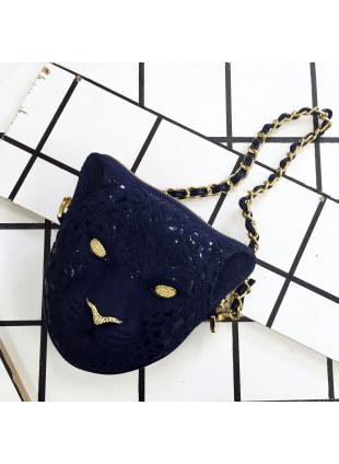 3D Bag (Dark Blue Leopard)