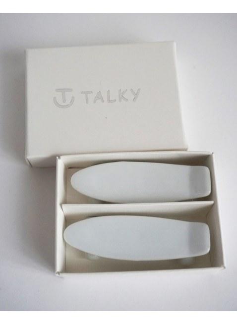 TALKY -skateboard chopstick rest- WHITE
