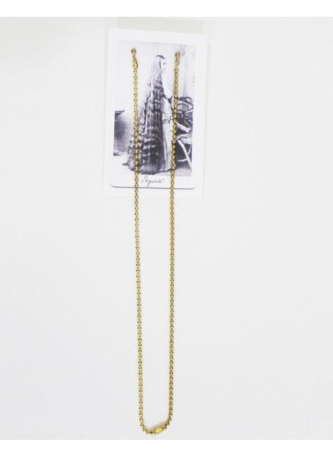 Long chain pierce -Gold / M-
