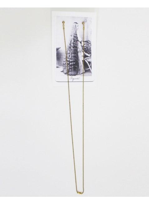 Long chain pierce -Gold / S-