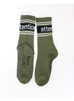 【 LIMIfeu x Aquvii 】attention socks  -カーキ-