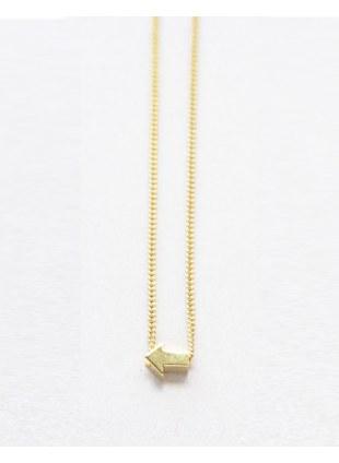 Arrow sign Necklace (Gold横)