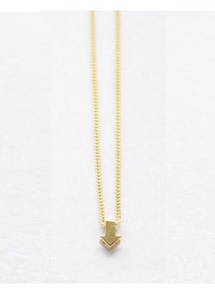 Arrow sign Necklace (gold 縦)