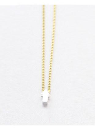 Arrow sign Necklace (silver 縦)