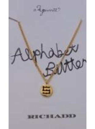 Alphabet Button Necklace (S)