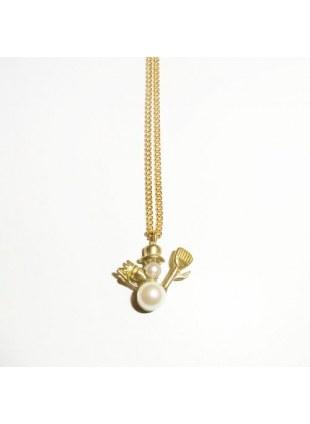 Plus Pearl Necklace (snowman)