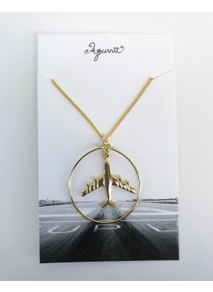 Air plane Necklace