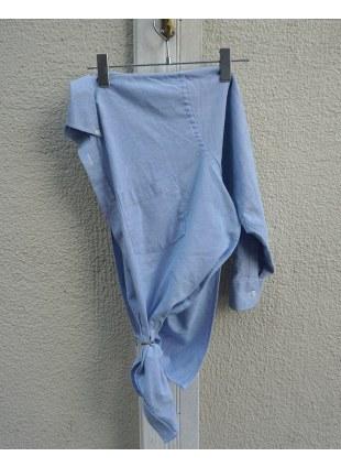 OneSideShirts -Blue-