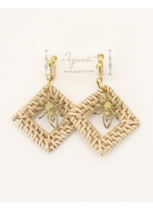 Spidernet Earring -Beige-