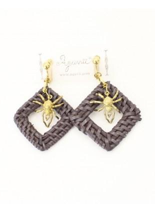 Spidernet Earring -Purple-