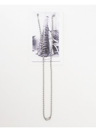 Long chain pierce -Silver / M-