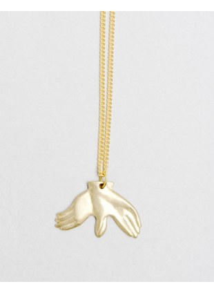 Hand Shadow Necklace -pigeon-