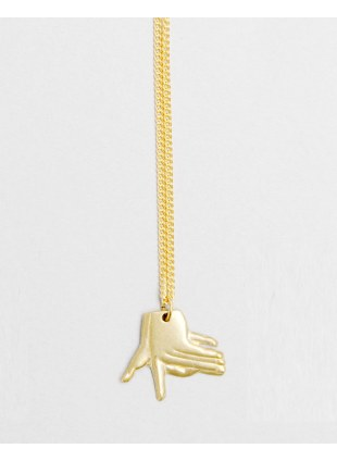 Hand Shadow Necklace -dog-