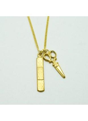 First Aid Necklace(Scissor×Bandaid)