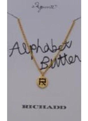 Alphabet Button Necklace (R)