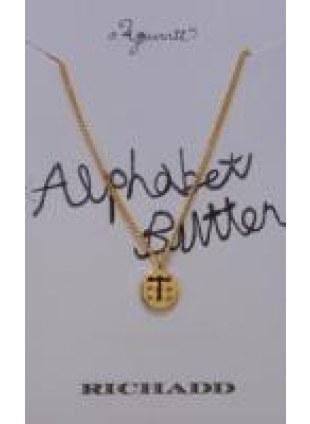 Alphabet Button Necklace (T)