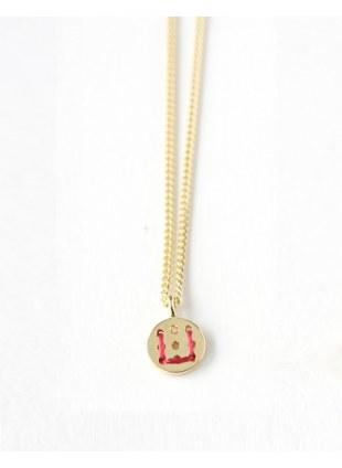Alphabet Button Necklace (U)