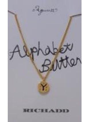 Alphabet Button Necklace (Y)