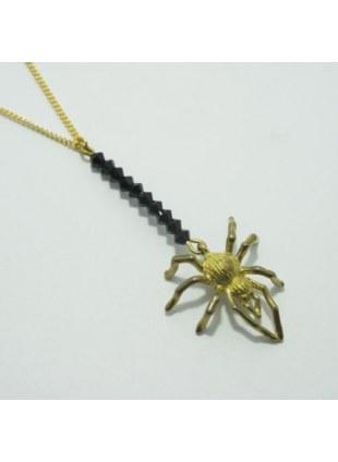 Spider Web Necklace (Black)