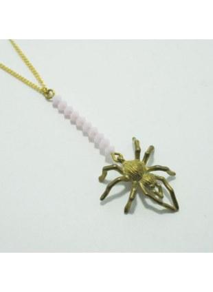 Spider Web Necklace (Pink)