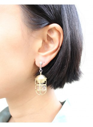 【 LIMIfeu x Aquvii 】lantern motif earring
